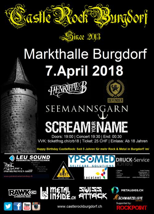 Flyer CastleRockBurgdorf 2018